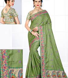 Buy Light green hand woven manipuri silk saree with blouse manipuri-silk-saree online