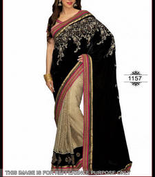 Buy KARISHMA BLACK PALLU SAREE other-actress-saree online