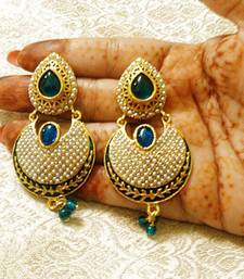 Buy Designer Bollywood Jhumka Jewellery Earrings For Navratri,Diwali,Wedding-LFER006 danglers-drop online