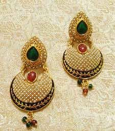 Buy Designer Bollywood Jhumka Jewellery Earrings For Navratri,Diwali,Wedding-LFER008 danglers-drop online