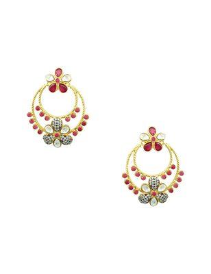 Red american_diamonds danglers-drops