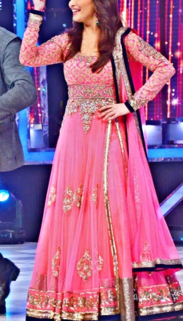 Buy Madhuri Dixit In Pink Kalidar Salwar Online