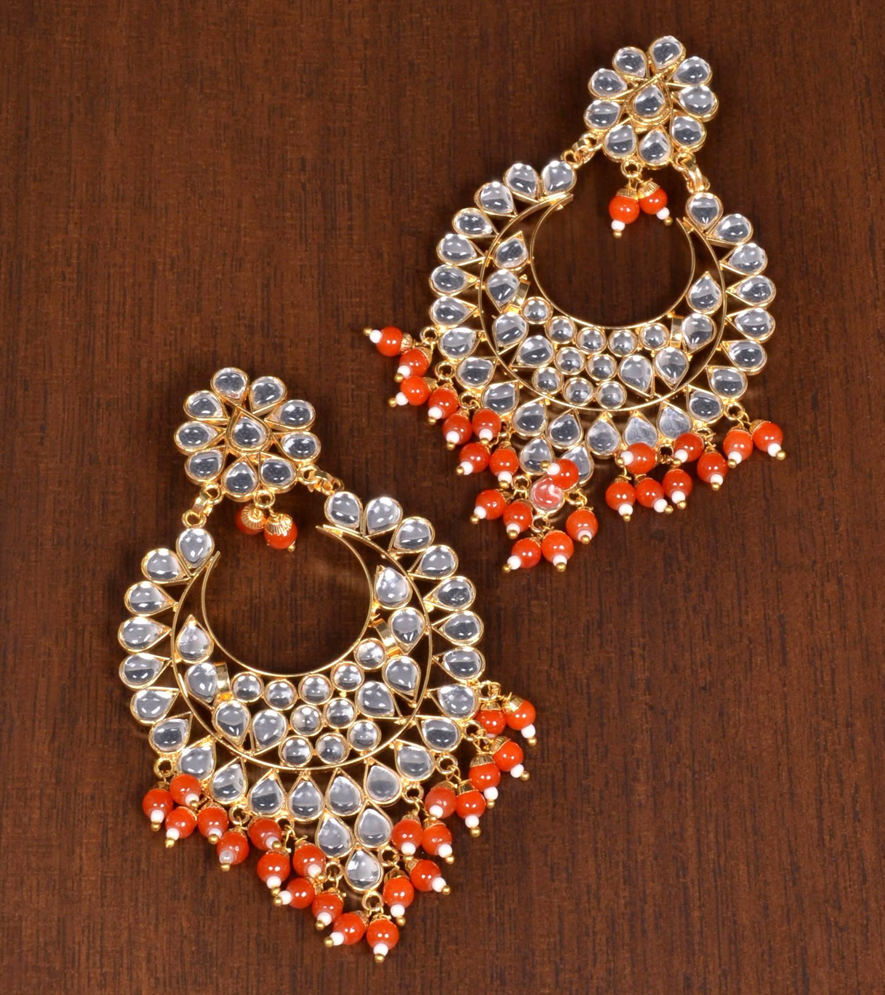 Orange Jewellery – Buy Orange Colour Jewellery Sets line For Women