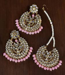 Buy Pink jade danglers-drops danglers-drop online