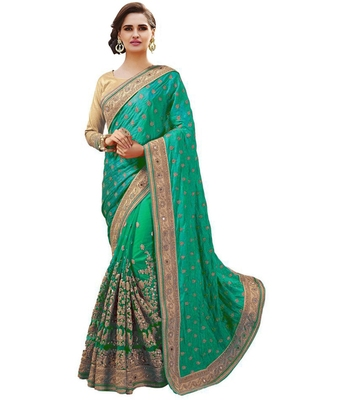 MulticoloredArt Silk Embroidery Designer Saree