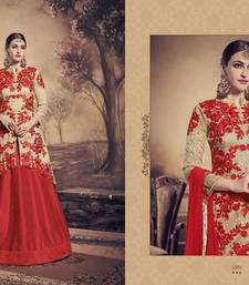 Buy Red embroidered art silk salwar with dupatta multicolor-salwar-kameez online