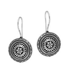 Beautiful Small Hook Style Antique Oxidised Silver Tone Fashion Earrings Studs