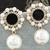 Ethnic Pearl Drop Earrings