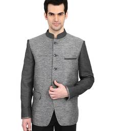 Buy indian ATTIRE Ethnic Blended Grey Indo-Western Bandgala (Indian Coat)  For Men gifts-for-brother online