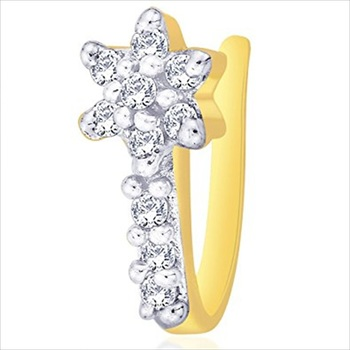 Gold cubic zirconia nose-ring