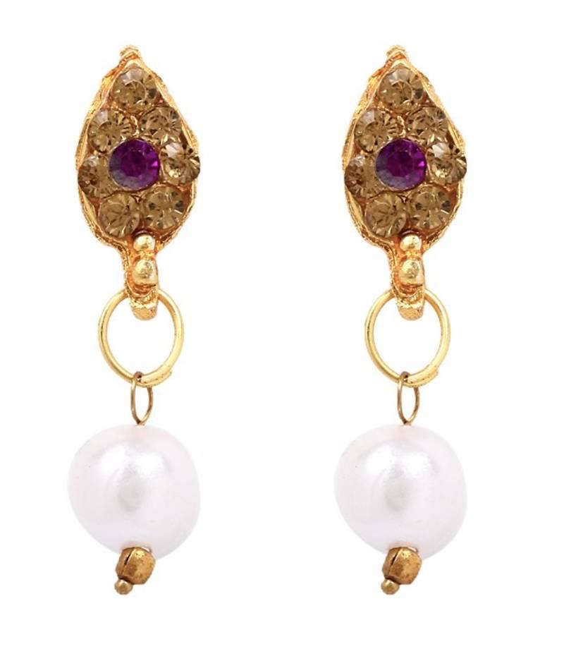 Diva Design: Buy Diva Purple Pendant Earrings Set Online