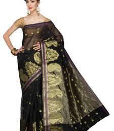 Buy Black printed cotton silk saree  Saree online