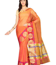 Buy Pink plain cotton saree  Saree online