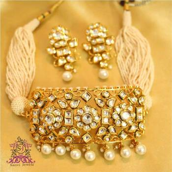 Royal Kundan Amp Pearl Choker Necklace Set Sanvi Jewels