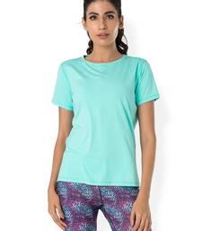 Buy Blue workout gym wear Crew Neck Tee workout-gym-wear online