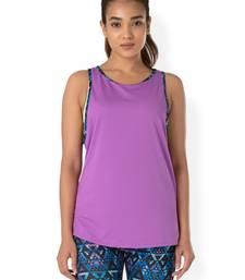 Buy Purple workout gym wear Muscle Tee workout-gym-wear online