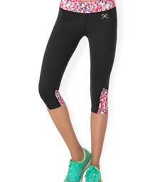 Buy Black workout gym wear Cropped Legging workout-gym-wear online