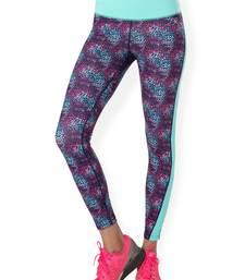 Buy Navy Cluster workout gym wear Full Legging workout-gym-wear online