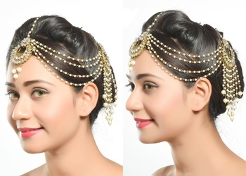 Traditional Design Matha Patti For Wedding Gold Finishing With Pearl And Stone
