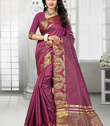 Buy multicolor printed art_silk saree with blouse fancy-saree online