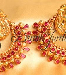 Buy GORGEOUS KEMP ANTIQUE RAM LEELA EARRINGS hoop online