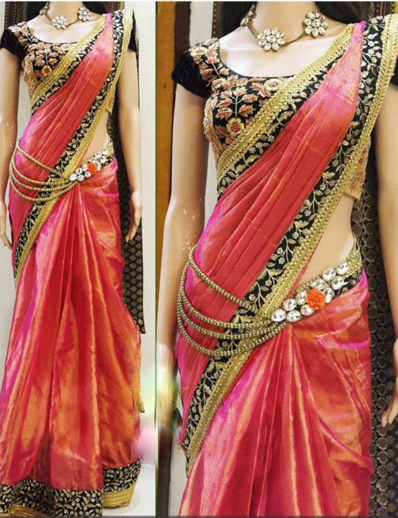 db0e9e34c6 Blouse Patch Work Design For Silk Sarees | Toffee Art