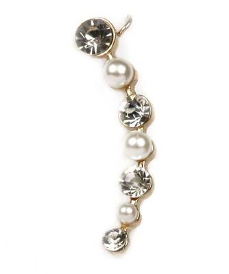 9blings Pearl CZ gold plated ear cuff ec26