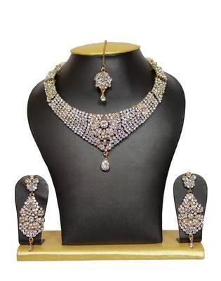 Priyanka Bridal Necklace Set in White