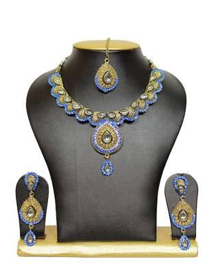 Antique Designer Necklace Set in Blue