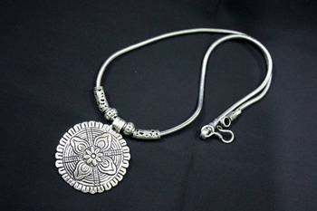 German Silver Pendant Necklace