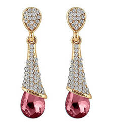 Buy Pink crystal earrings Earring online