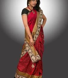 Buy Red Raw Silk  silk-saree online