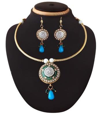 Elegant Necklace  Set in Blue
