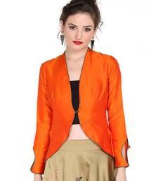 017096430eb Ira soleil orange made of poly taffeta peplum top