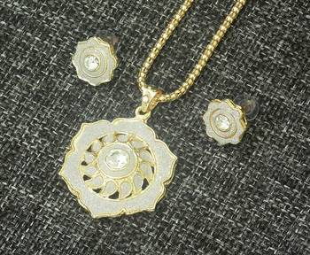 Silver Golden Color Pendent Set