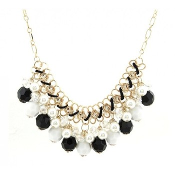 Black Bohemia crystal pearl Necklace
