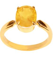GII Certified 5.6 Cts YELLOW SAPPHIRE (PUKHRAJ) Gemstone Ring