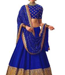 Buy Blue banglori silk embroidered lehenga with dupatta black-friday-deal-sale online