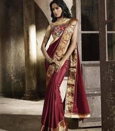 Buy designer saree crepe-saree online