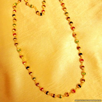 Multicolour Crystal Gold Plated Necklace
