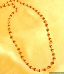 Rudraksh Gold Plated Fine Necklace