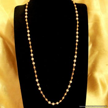 Gold Beads & Pearl Gold Plated Necklace