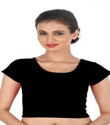 Black Cotton Lycra  stitched blouse