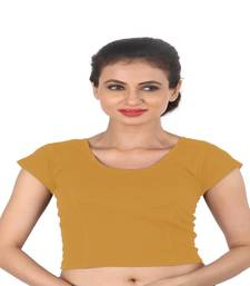 Beige Cotton Lycra  stitched blouse