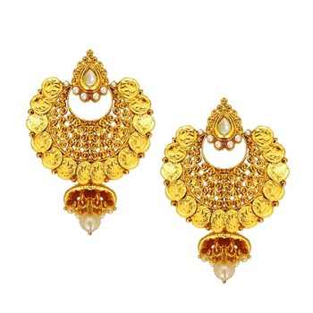 d94b9a4e7c7 Gold pearl danglers-drops - BEING WOMEN - 2074368