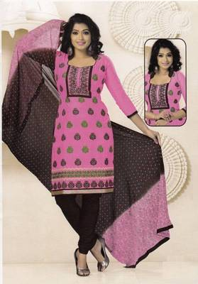 Radiant Cotton Embroidered Salwar Suit Dress Material D.NO SV1058