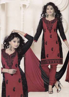 Radiant Cotton Embroidered Salwar Suit Dress Material D.NO SV1059