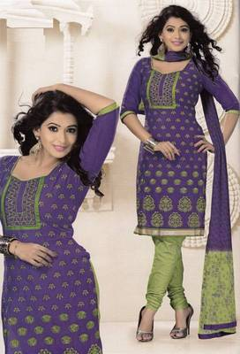 Radiant Cotton Embroidered Salwar Suit Dress Material D.NO SV1063