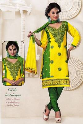 Radiant Cotton Embroidered Salwar Suit Dress Material D.NO SV1071