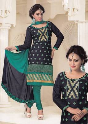 Radiant Cotton Embroidered Salwar Suit Dress Material D.NO SV1072